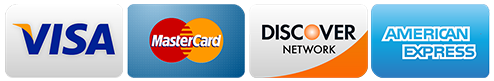 image of Visa, MasterCard, Discover and American Express credit cards
